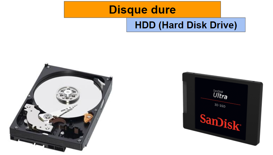 disque dure - HDD